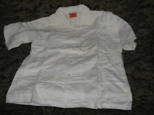 smock medical assistants shirt  white large short NOS DATE 71 vietnam military