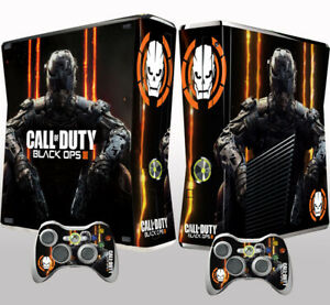 Xbox 360 Slim Console Skin Sticker Call of Duty Black Ops Vinyl Decal Sticker