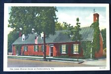 James Monroe Shrine Fredericksburg Virginia VA  Postcard PC 1940s Curteich