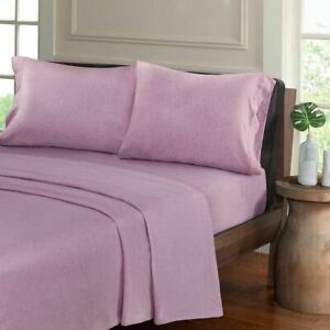Luxury Purple Heathered Cotton Jersey Knit Sheet Set - ALL SIZES