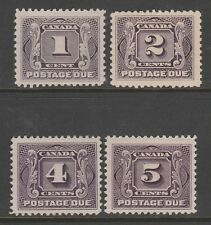 CANADA #J1-J4 MH - Postage Due issues