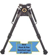 """TipTop® Rifle Bipod Picatinny Rail Mount Notched Legs Pivot+PAN QD:7"""" -10.5"""""""