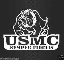 USMC United States Marine Corps Bulldog Car Truck Vinyl Decal Veteran Made B1B