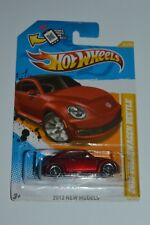 2012 Hot Wheels 2012 Volkswagen Beetle Red Color Diecast Malaysia MIC Sealed