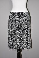 CHICO'S $89 Black Ikat Straight Pencil Skirt Above Knee 0.5 / Size 6