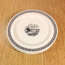 "WEDGWOOD Kansas City Service WESTERN COVERED WAGON 8"" Salad Plates (4) *MINT*"