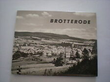 uraltes s/w DDR Leporello  BROTTERODE  von  1970