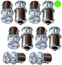 10x Ampoules 24V P21W R10W R5W 8LED SMD vert pour camion semi-remorque portail