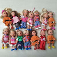 3Pcs HOT SALE 11cm Kelly Dolls Cute Baby Doll Kids Gift Mixed Styles Mini Dolls