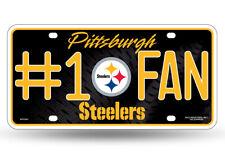 Pittsburgh Steelers #1 Fan Metal License Plate Tag