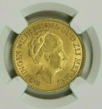NETHERLANDS ~HOLLAND~ 1925 ~ GOLD 10 GULDEN ~ NGC MS 65 (AGW=0.1947 OZ)  $658.88
