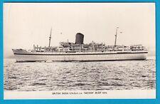 Original Real Photo Postcard British India S.S. NEVASA MALTA FORCES MAIL