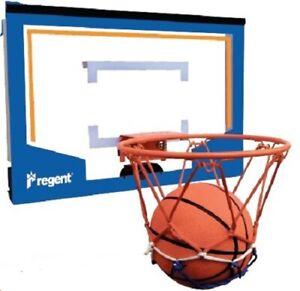 Regent Mini Basketball Hoop Ring Backboard Set Over Door Mount Incl Ball & Pump