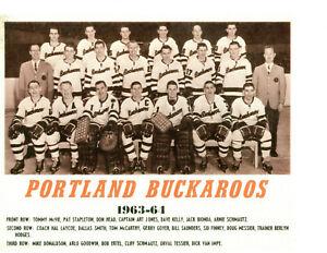 1963 1964 PORTLAND BUCKAROOS 8X10 TEAM PHOTO OREGON WHL USA HOCKEY