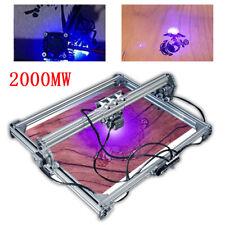 2000mw Laser Engraver Cutting Machine Desktop Mark DIY Logo Engraving Printer US