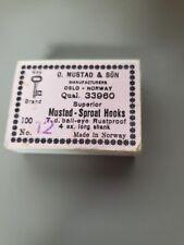 Mustad Hooks Qual. 33960 NO. 12 Qty 100