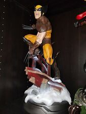 Wolverine Brown Costume Exclusive Premium Format Sideshow Collectibles Statue