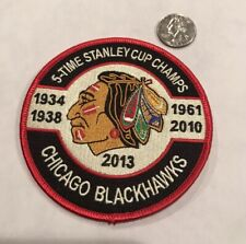 """Chicago Blackhawks Embroidered/Retro Iron On Stanley Cup Patch. 4""""x 4"""" Awesome!"""