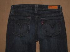 Levis Size 5 S/C Demi Curve Boot Cut Dark Blue Stretch Denim Womens Jeans