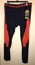 "TEK GEAR Men's Performance Compression Pants Athletic ""NAVY/CHERRY"" Size XXL NWT"