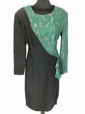 Vogue Vintage '80 Woman Dress Lurex Party Rayon Woman Dress Sz. M - 44