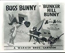 FRIZ FRELENG: Acadermy Award-Winning Animator: Bugs Bunny Photo Autographed