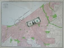 Oh Xl 1912 Dated Cleveland Wall Map Art Print Decor. Newburgh. Warrensville.