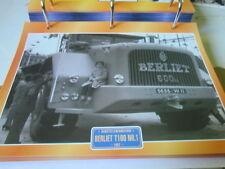 Super trucks chantiers Camion FRANCE BERLIET t100, NR 1, 1957
