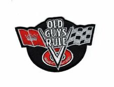 old guys rule corvet racing checker flag iron on sew on Patch