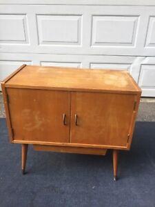 Very Rare Vintage Grundig Record Storage Cabinet- Mid Century Modern Style
