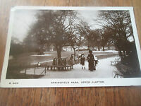 Vintage RP Postcard SPRINGFIELD PARK, UPPER CLAPTON LONDON Franked+Stamped 1912