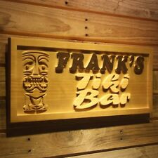 wpa0177 Name Personalized TIKI BAR Mask Wood Engraved Wooden Sign