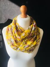 Vintage Style Pretty Ditsy Floral Infinity Scarf Snood - New Yellow Colour!
