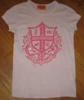 Juicy Couture Junior's T shirt Top Pullover Beaded Pink size Small