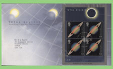 G.B. 1999 Total Eclipse M/S on Royal Mail First Day Cover, Falmouth