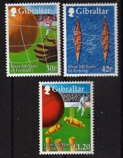Cricket Rowing Soccer 3 mnh stamps 1999 Gibraltar #817-9 Sports