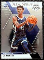 JA MORANT - 2020 Panini Mosaic RC Rookie NBA Debut Memphis Grizzlies #274