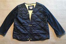 Vintage 90s Nike Puffer Quilt Navy Jacket L (12-14) Nylon Blend #K5