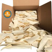 Rawhide Chips for Dogs 6 lbs Quality Large Natural Beef Dog Chews by 123 Treats