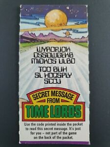 DOCTOR WHO WEETABIX SECRET MESSAGE FROM TIME LORDS CARD 1977 RARE VINTAGE K973