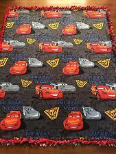 """Disney CARS 3 Fleece Tie BLANKET Feat Lightning McQueen & Jackson Storm 55""""x65"""""""