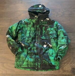 686 Youth Evolution Jacket Green & Black Ski Snowboard XL Extra Large Boy Girl