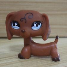 #640 Littlest Pet Shop RARE Dachshund Dog Puppy Scroll Diamond Eyes LPS