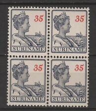 xxx SURINAME NVPH nr. 99 (4x), 35 Cent in blok van 4. C.w. € 92,--