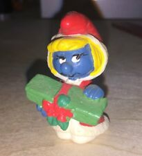 Vintage Rare Original SMURFS 1981 SCHLEICH Peyo Smurfette Christmas Figurine Toy