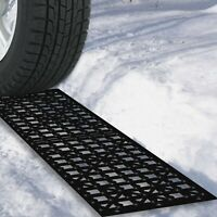 2 Piece Snow Grabber Tire Treads Mats 21 x 5 inches