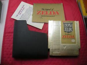The Legend of Zelda Nintendo Original Gold Cartridge Manual 1985 & Map Guide  D4