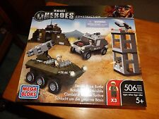MEGA BLOKS, TRUE HEROES, STEALTH BASE BATTLE, 506 PIECES, NEW IN BOX, 2013
