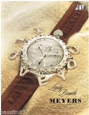 PUBLICITE ADVERTISING 095  2005  MEYERS  collection montres  LADY BEACH
