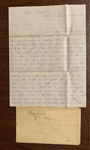 50th Massachusetts Infantry Civil War Letter And Drawing 1862 W. Hammond